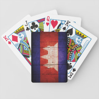 Cambodia Flag; Cambodian; Khmer Bicycle Playing Cards