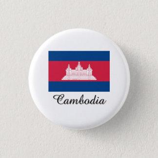 Cambodia Flag Design 3 Cm Round Badge