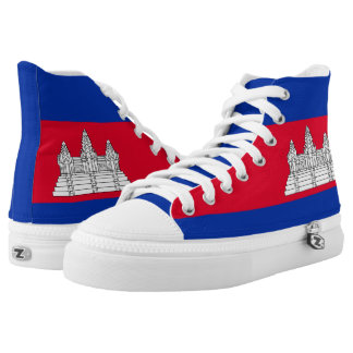 Cambodia Flag High Tops