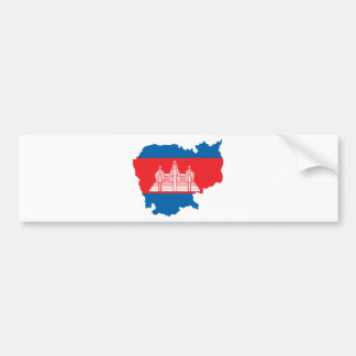 Cambodia Flag Map full size Bumper Sticker