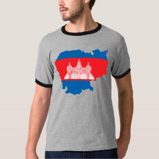 Cambodia Flag Map full size T-Shirt