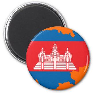 Cambodia flag map magnet