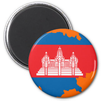 Cambodia flag map magnets