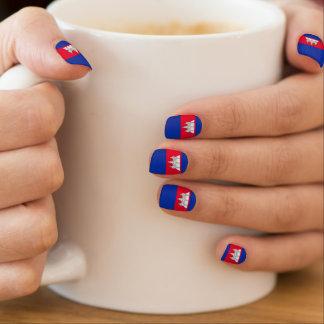 Cambodia Flag Minx Nail Art