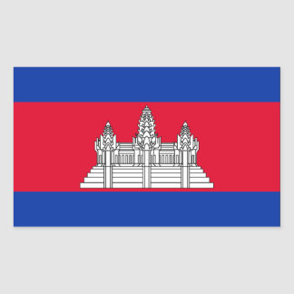 Cambodia Flag Rectangular Sticker