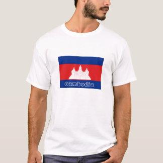 Cambodia flag souvenir tshirt