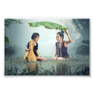 Cambodia happy faces of young women and girl photograph