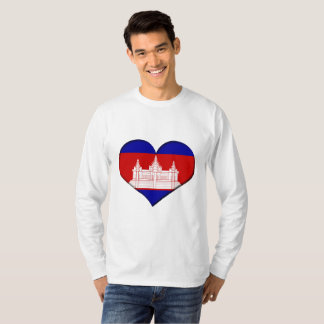 Cambodia Heart Flag T-Shirt