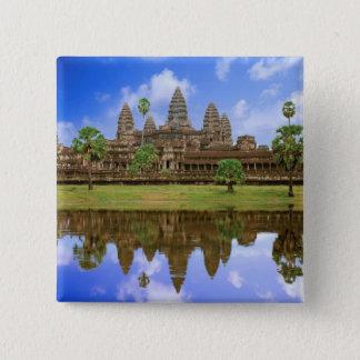 Cambodia, Kampuchea, Angkor Wat temple. 15 Cm Square Badge