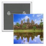 Cambodia, Kampuchea, Angkor Wat temple. Badge