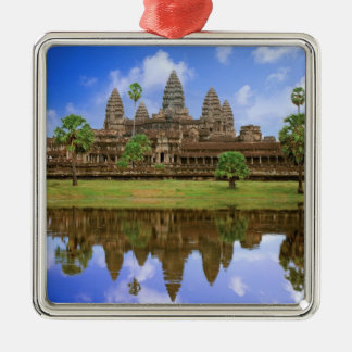 Cambodia, Kampuchea, Angkor Wat temple. Christmas Ornament