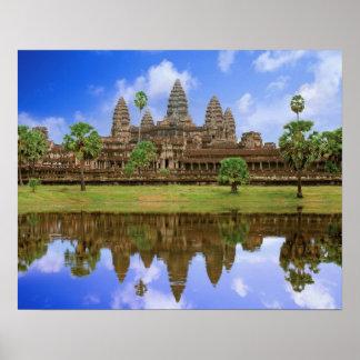 Cambodia, Kampuchea, Angkor Wat temple. Poster