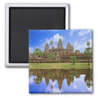 Cambodia, Kampuchea, Angkor Wat temple. Square Magnet