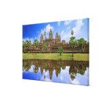 Cambodia, Kampuchea, Angkor Wat temple. Stretched Canvas Print