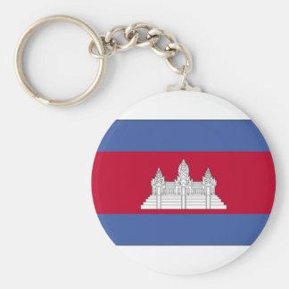 cambodia-large-flag basic round button key ring