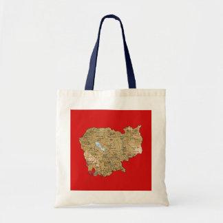 Cambodia Map Bag