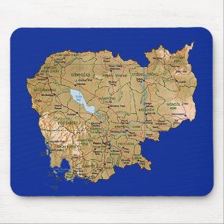 Cambodia Map Mousepad