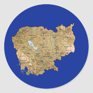 Cambodia Map Sticker