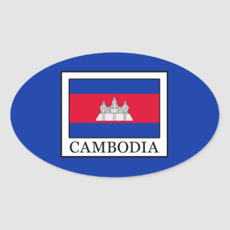Cambodia Oval Sticker