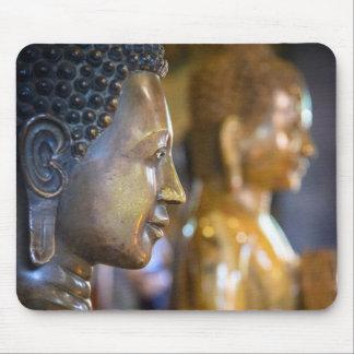 Cambodia, Phnom Penh. Buddha statues Mouse Mat