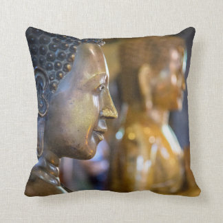 Cambodia, Phnom Penh. Buddha statues Throw Pillow