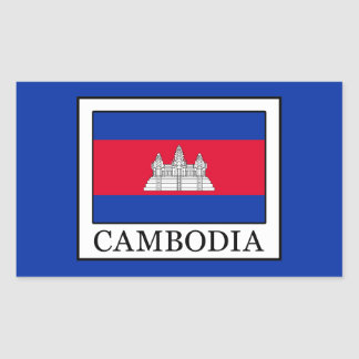 Cambodia Rectangular Sticker