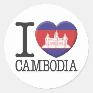 Cambodia Round Sticker