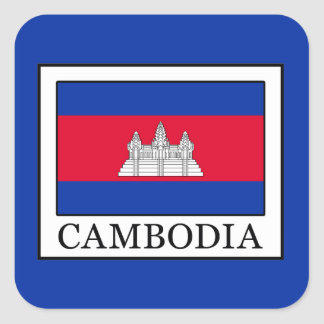 Cambodia Square Sticker
