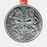 Cambodian dancers stone carving christmas tree ornaments