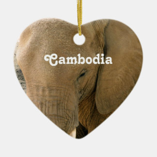 Cambodian Elephant Christmas Ornament