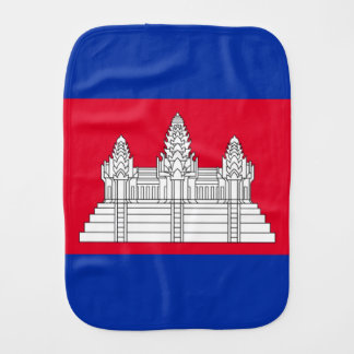 Cambodian flag burp cloth