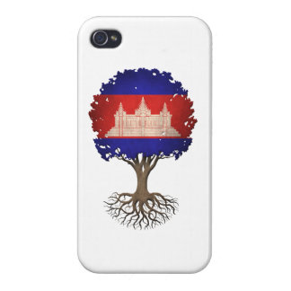 Cambodian Flag Tree of Life Customizable iPhone 4 Case