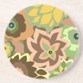CAMBRIA, ART DECO FLORALS: LATE AUTUMN COASTER