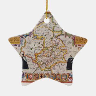 Cambridge Antique Map Christmas Ornament