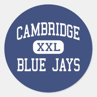 Cambridge - Blue Jays - High - Cambridge Wisconsin Round Sticker