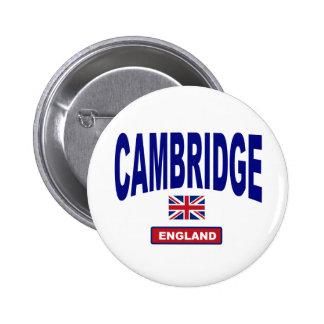Cambridge England 6 Cm Round Badge