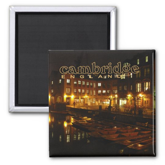 Cambridge England Night Scene Travel Fridge Magnet