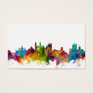 Cambridge England Skyline Business Card
