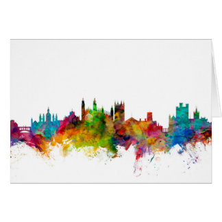 Cambridge England Skyline Card