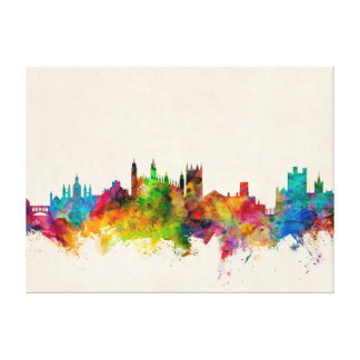 Cambridge England Skyline Cityscape Canvas Print