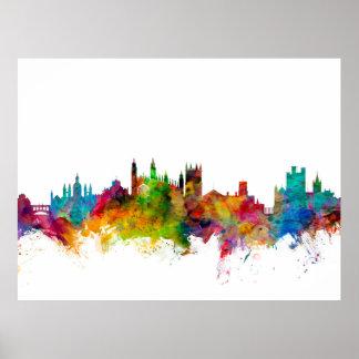 Cambridge England Skyline Poster
