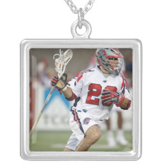 CAMBRIDGE, MA - AUGUST 13:  J.J. Morrissey #29 Silver Plated Necklace
