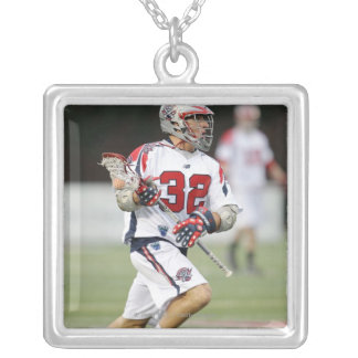 CAMBRIDGE, MA - AUGUST 13:  Jon Hayes #32 Silver Plated Necklace