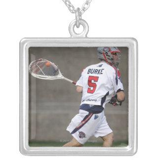 CAMBRIDGE, MA - AUGUST 13:  Jordan Burke #5 2 Silver Plated Necklace