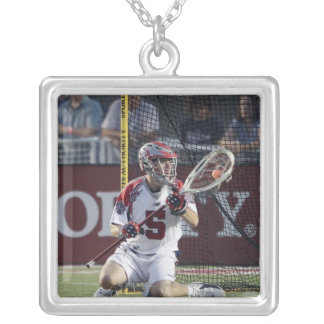 CAMBRIDGE, MA - AUGUST 13:  Jordan Burke #5 Silver Plated Necklace