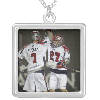 CAMBRIDGE, MA - AUGUST 13:  Kevin Buchanan #27 Silver Plated Necklace