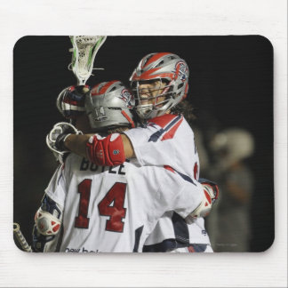 CAMBRIDGE, MA - AUGUST 13:  Paul Rabil #11 and Mouse Mat