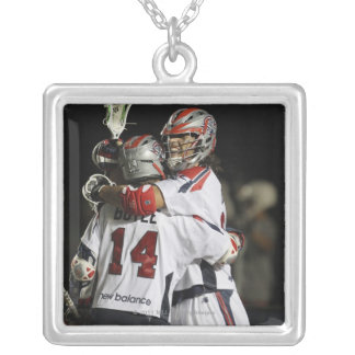 CAMBRIDGE, MA - AUGUST 13:  Paul Rabil #11 and Silver Plated Necklace