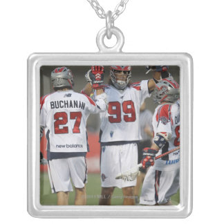 CAMBRIDGE, MA - AUGUST 13:  Paul Rabil #99 Silver Plated Necklace
