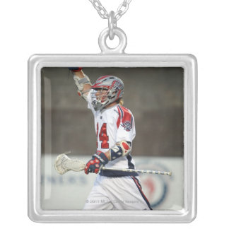 CAMBRIDGE, MA - AUGUST 13:  Ryan Boyle #14 Silver Plated Necklace